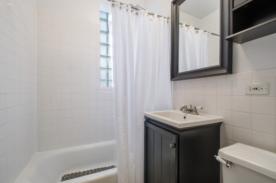 Real Estate Photography - 1307 W. Rosemont Avenue, Unit 3, Chicago, IL, 60660 - Bathroom