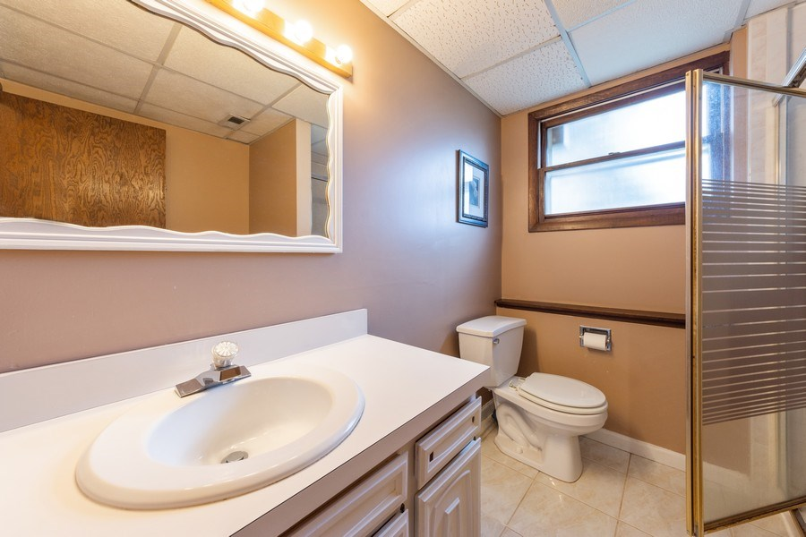 Real Estate Photography - 632 W. St Aubin Drive, Addison, IL, 60101 - 3rd Bathroom