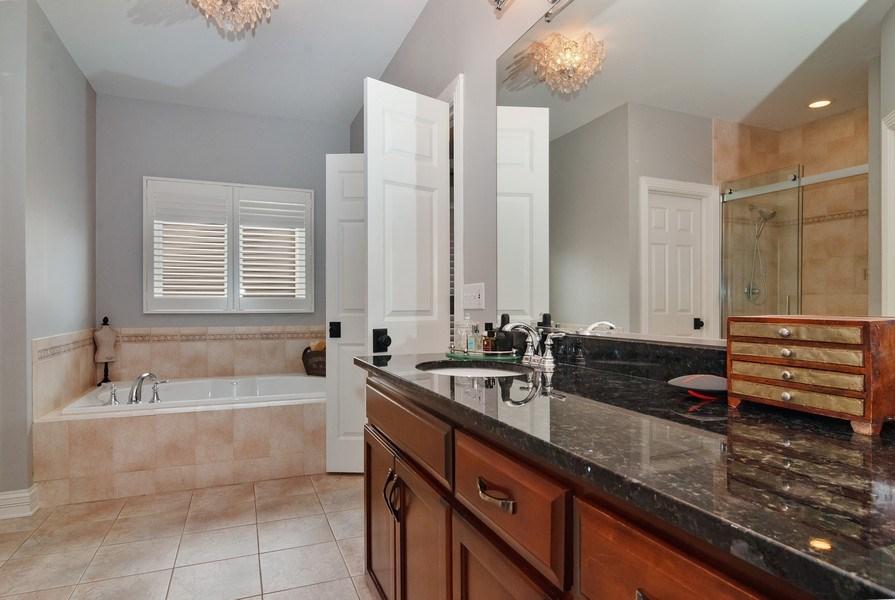 Real Estate Photography - 2019 RACHEL Lane, Aurora, IL, 60502 - Master Bathroom