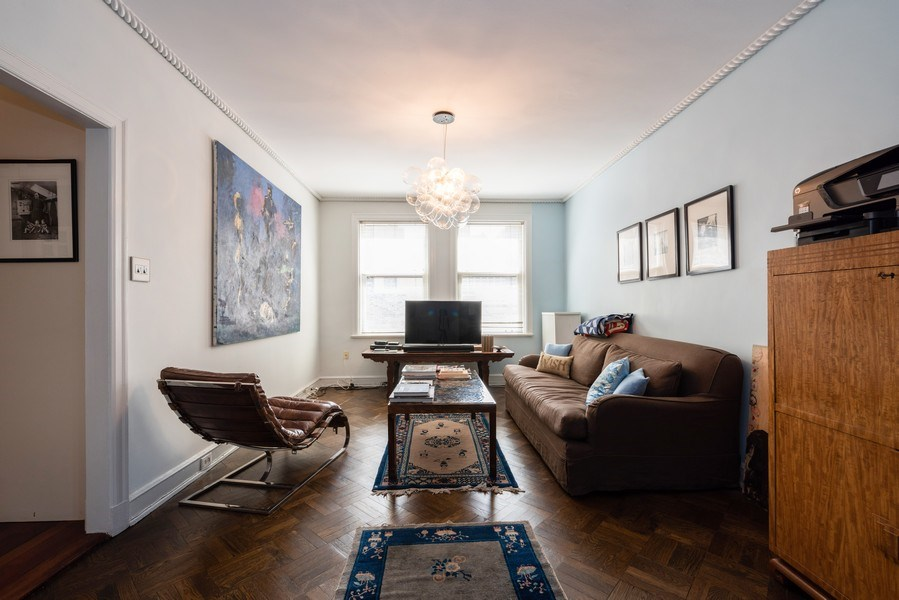 Real Estate Photography - 73 E. Elm Street, Unit 5D, Chicago, IL, 60611 - Family Room