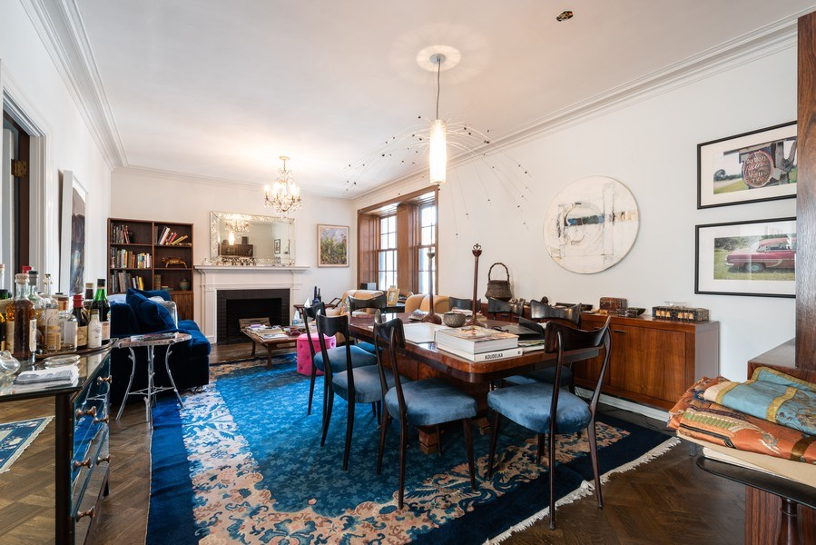 Real Estate Photography - 73 E. Elm Street, Unit 5D, Chicago, IL, 60611 - Living Room / Dining Room