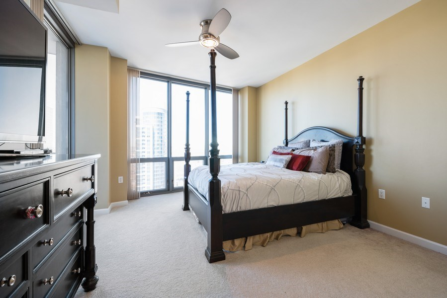 Real Estate Photography - 1235 S. Prairie Avenue, Unit 3105, Chicago, IL, 60605 - Master Bedroom