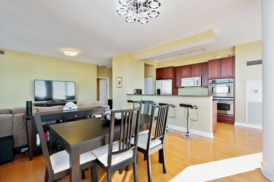 Real Estate Photography - 1235 S. Prairie Avenue, Unit 3105, Chicago, IL, 60605 - Kitchen/Dining