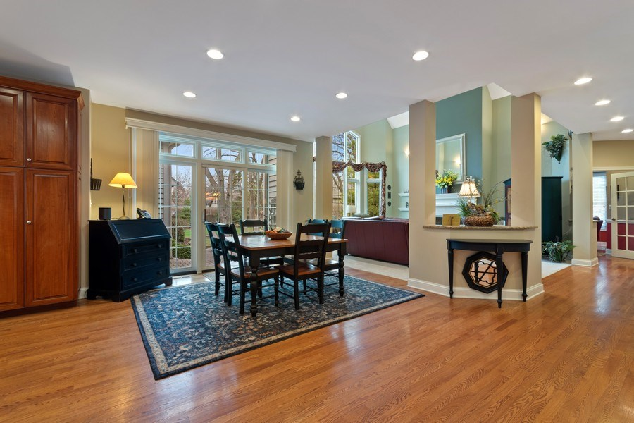 Real Estate Photography - 647 Plainfield Naperville Road, Naperville, IL, 60540 - Large breakfast area open to the FR