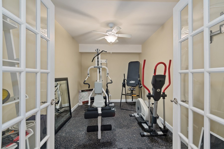 Real Estate Photography - 647 Plainfield Naperville Road, Naperville, IL, 60540 - Workout room