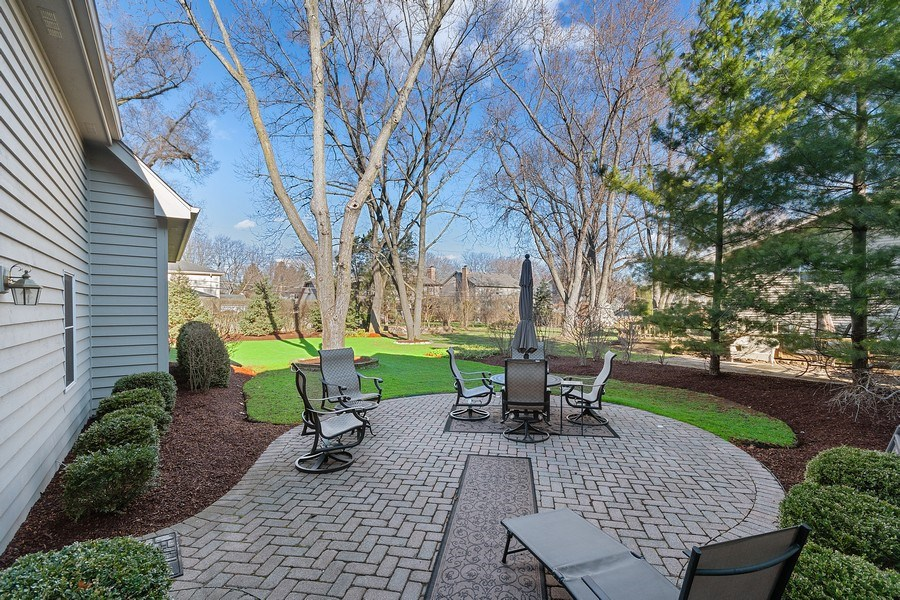 Real Estate Photography - 647 Plainfield Naperville Road, Naperville, IL, 60540 - Private patio to enjoy the sunsets