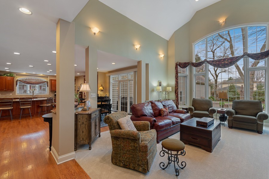 Real Estate Photography - 647 Plainfield Naperville Road, Naperville, IL, 60540 - Open floor plan- family room to kitchen