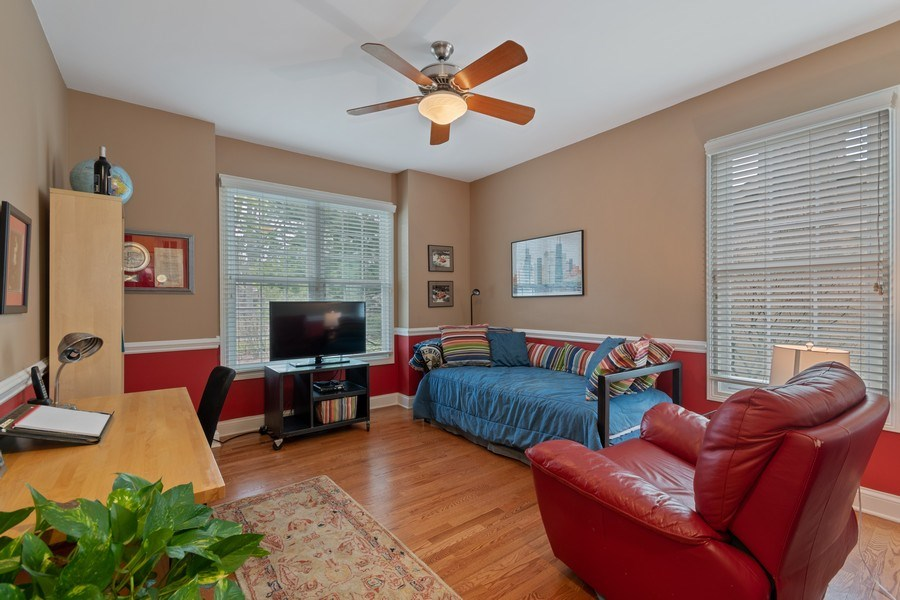 Real Estate Photography - 647 Plainfield Naperville Road, Naperville, IL, 60540 - 1st FLR den or guest BR in a pinch