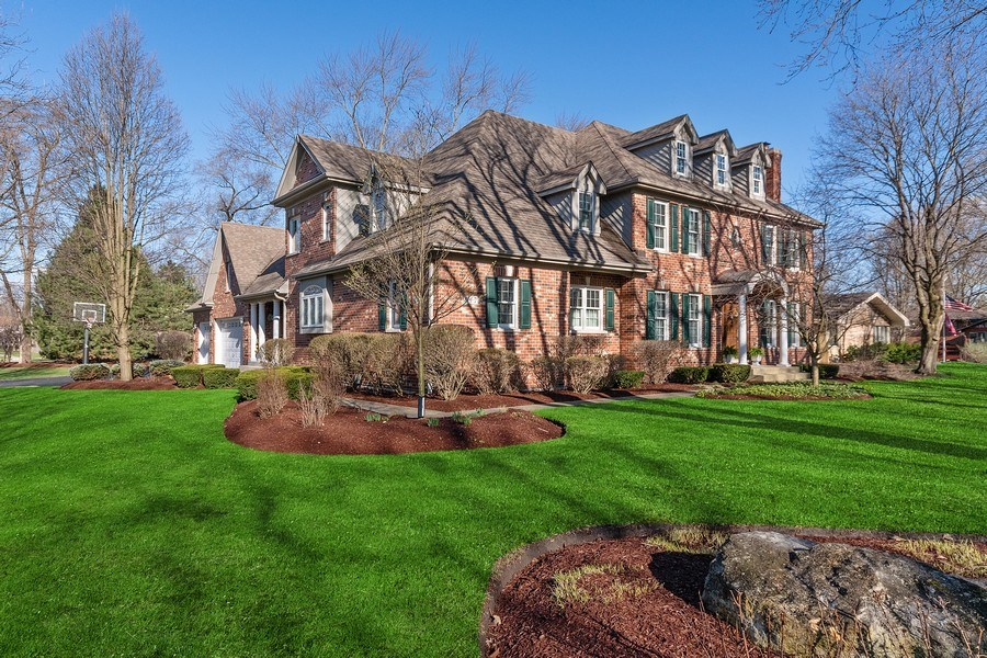 Real Estate Photography - 647 Plainfield Naperville Road, Naperville, IL, 60540 - Stunning curb appeal & a 4 car garage!