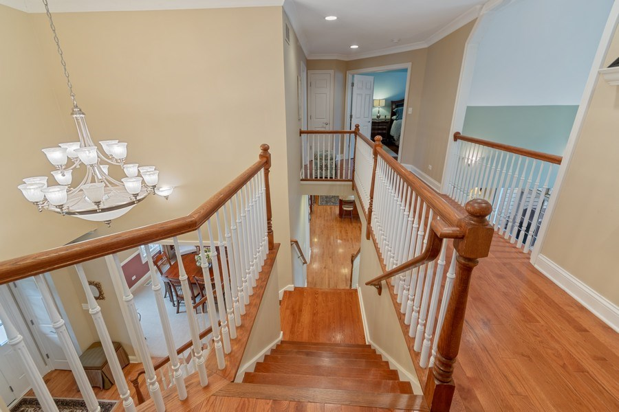 Real Estate Photography - 647 Plainfield Naperville Road, Naperville, IL, 60540 - Dual staircases lead up to the 2nd floor