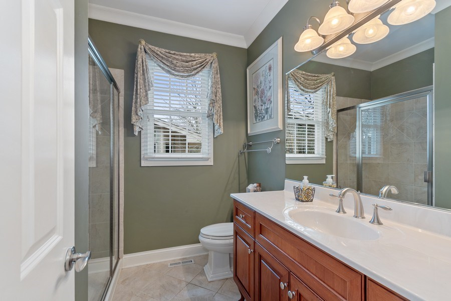 Real Estate Photography - 647 Plainfield Naperville Road, Naperville, IL, 60540 - Full bath on the main level