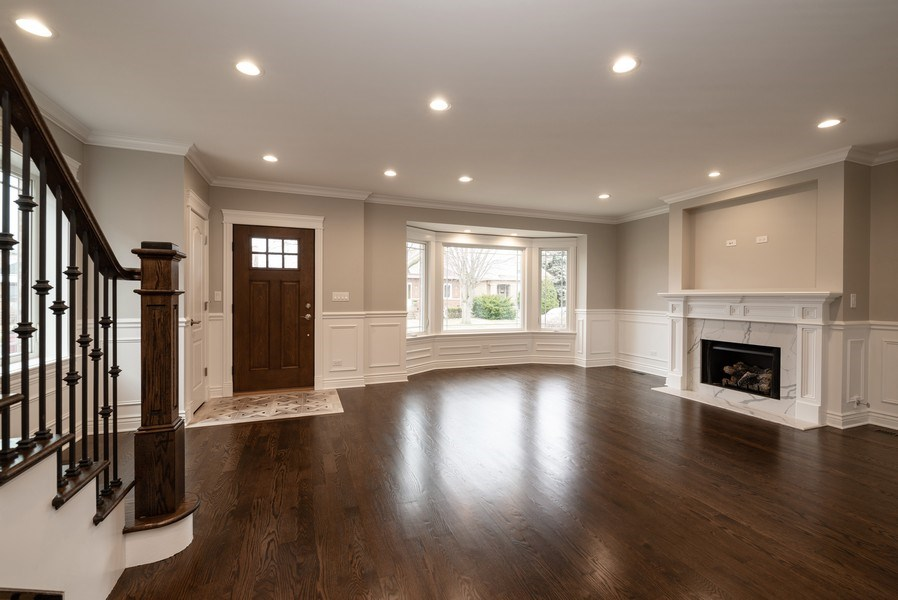 Real Estate Photography - 4130 North Mango Ave, Chicago, IL, 60634 - Living Room