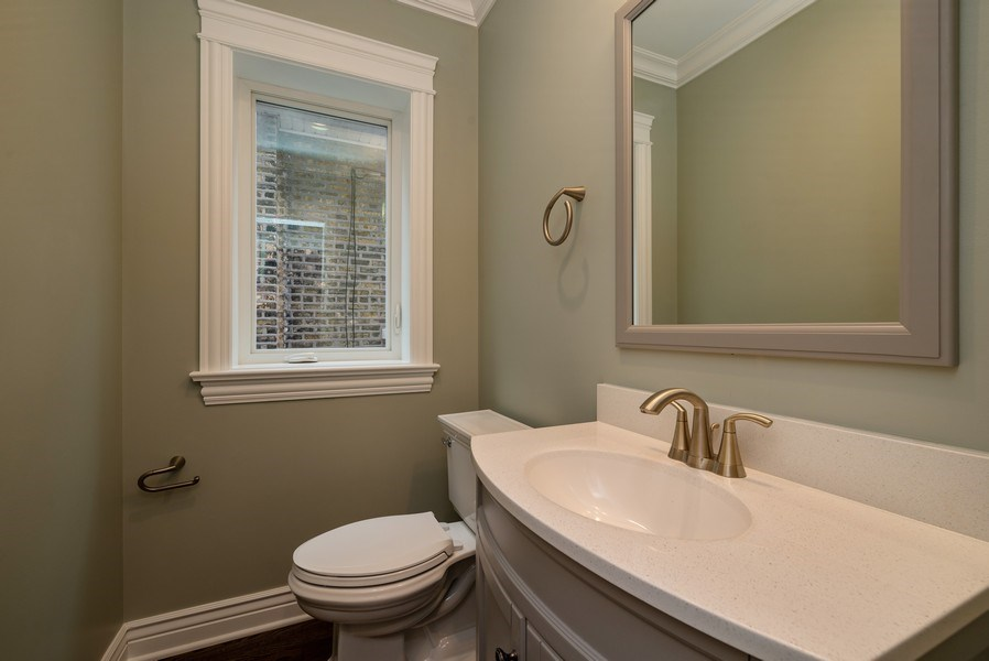 Real Estate Photography - 4130 North Mango Ave, Chicago, IL, 60634 - Powder Room