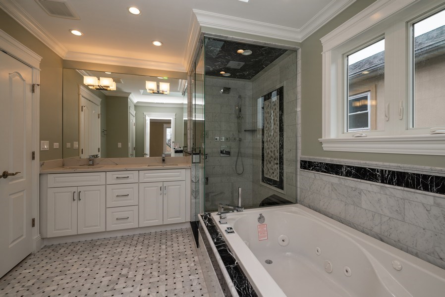 Real Estate Photography - 4130 North Mango Ave, Chicago, IL, 60634 - Master Bathroom