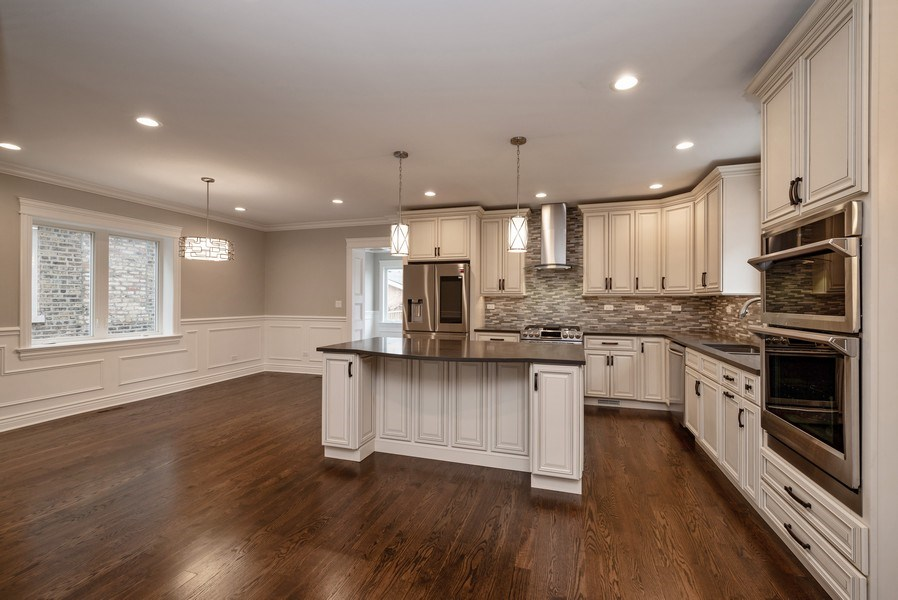 Real Estate Photography - 4130 North Mango Ave, Chicago, IL, 60634 - Kitchen