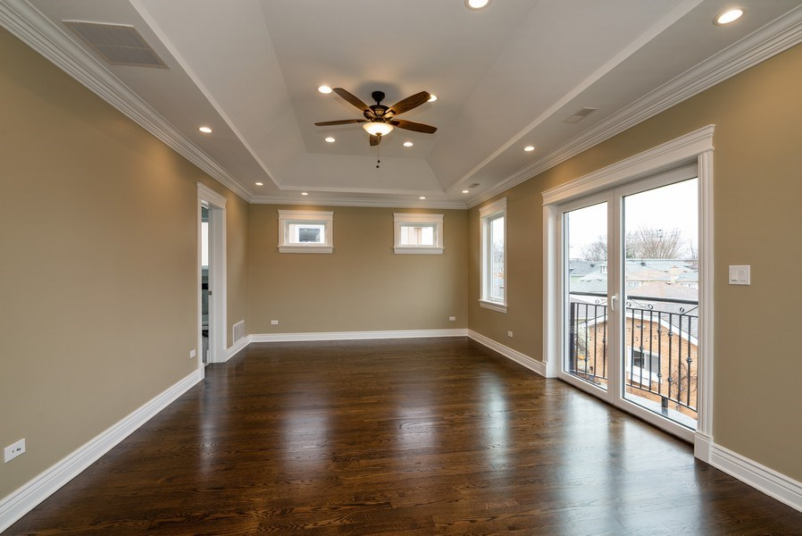 Real Estate Photography - 4130 North Mango Ave, Chicago, IL, 60634 - Master Bedroom