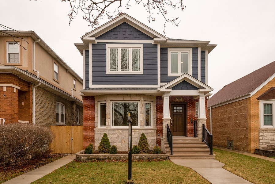 Real Estate Photography - 4130 North Mango Ave, Chicago, IL, 60634 - Front View