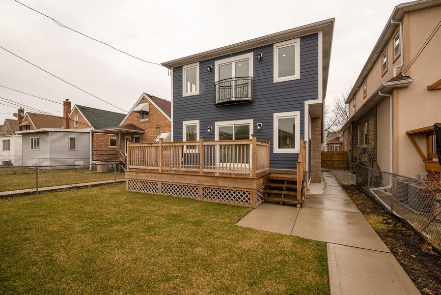 Real Estate Photography - 4130 North Mango Ave, Chicago, IL, 60634 - Rear View