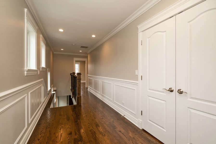 Real Estate Photography - 4130 North Mango Ave, Chicago, IL, 60634 - 2nd Floor Hallway