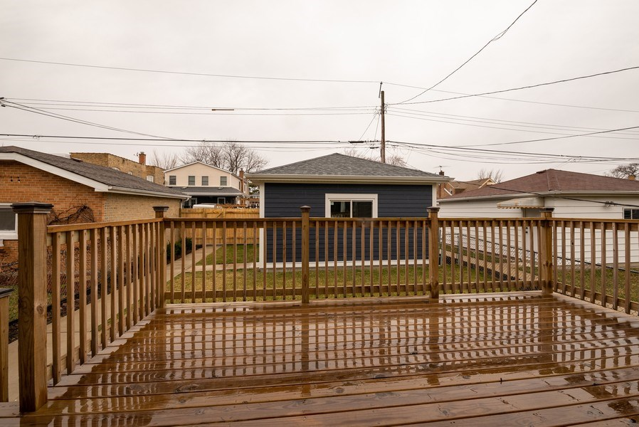 Real Estate Photography - 4130 North Mango Ave, Chicago, IL, 60634 - Deck