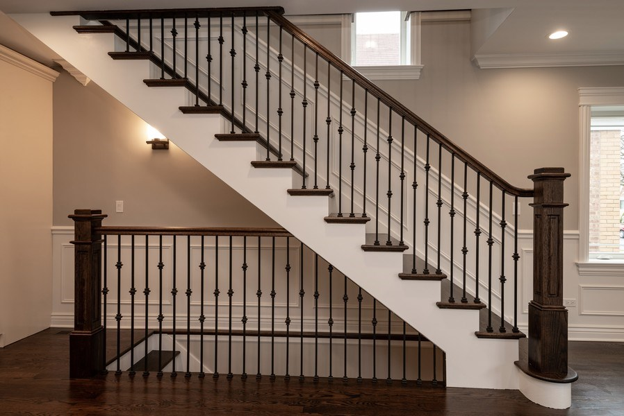 Real Estate Photography - 4130 North Mango Ave, Chicago, IL, 60634 - Staircase