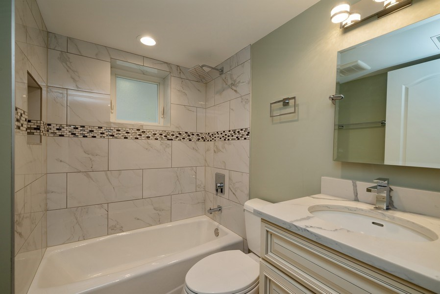 Real Estate Photography - 4130 North Mango Ave, Chicago, IL, 60634 - 2nd Bathroom