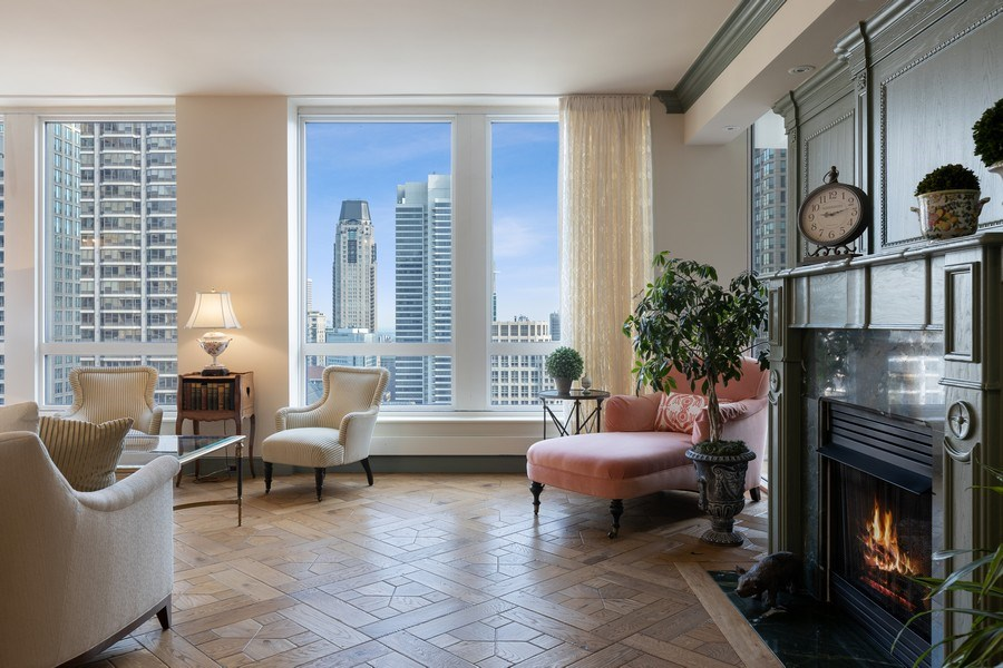 Real Estate Photography - 55 E. Erie Street, Unit 3501, Chicago, IL, 60611 - Living Room