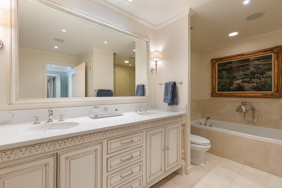 Real Estate Photography - 55 E. Erie Street, Unit 3501, Chicago, IL, 60611 - Master Bathroom