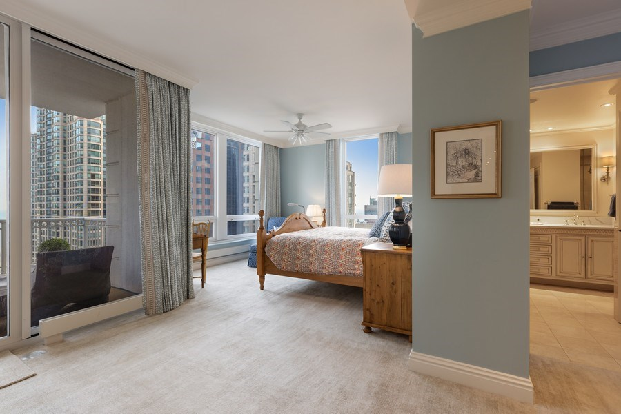 Real Estate Photography - 55 E. Erie Street, Unit 3501, Chicago, IL, 60611 - Master Bedroom