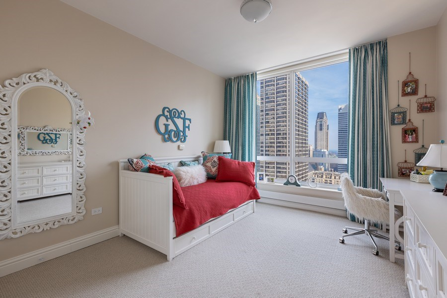 Real Estate Photography - 55 E. Erie Street, Unit 3501, Chicago, IL, 60611 - 2nd Bedroom