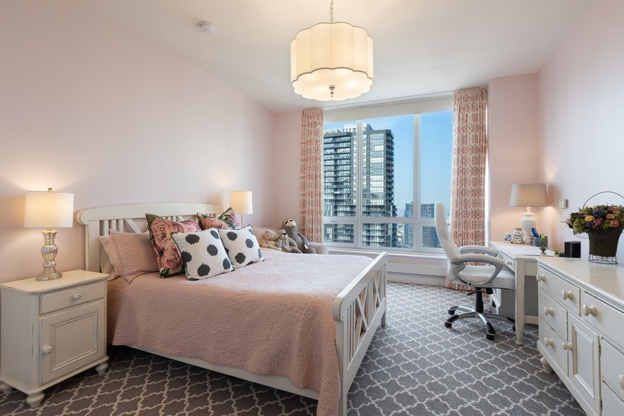 Real Estate Photography - 55 E. Erie Street, Unit 3501, Chicago, IL, 60611 - Bedroom