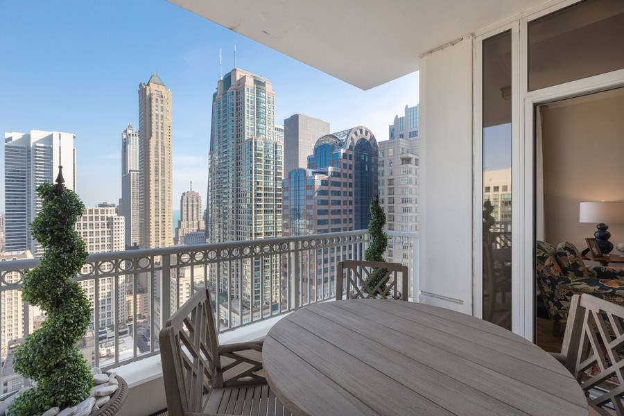 Real Estate Photography - 55 E. Erie Street, Unit 3501, Chicago, IL, 60611 - Balcony