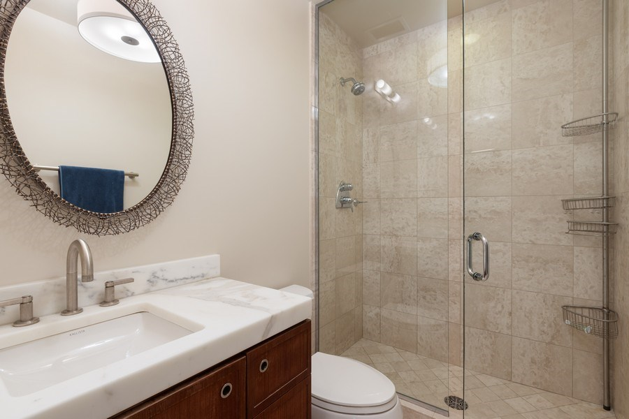 Real Estate Photography - 55 E. Erie Street, Unit 3501, Chicago, IL, 60611 - 2nd Bathroom