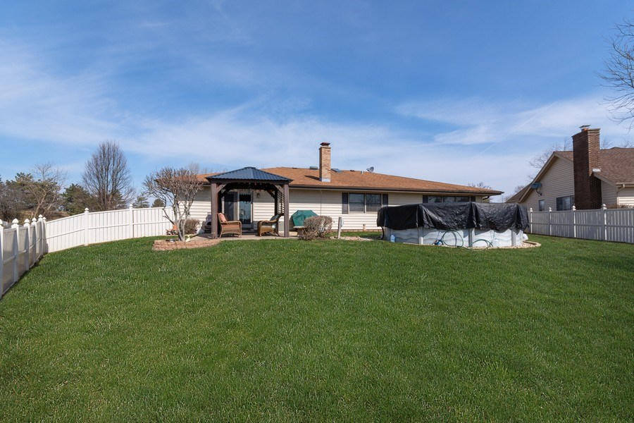 Real Estate Photography - 1225 Lynnfield Lane, Bartlett, IL, 60103 - Fenced Yard