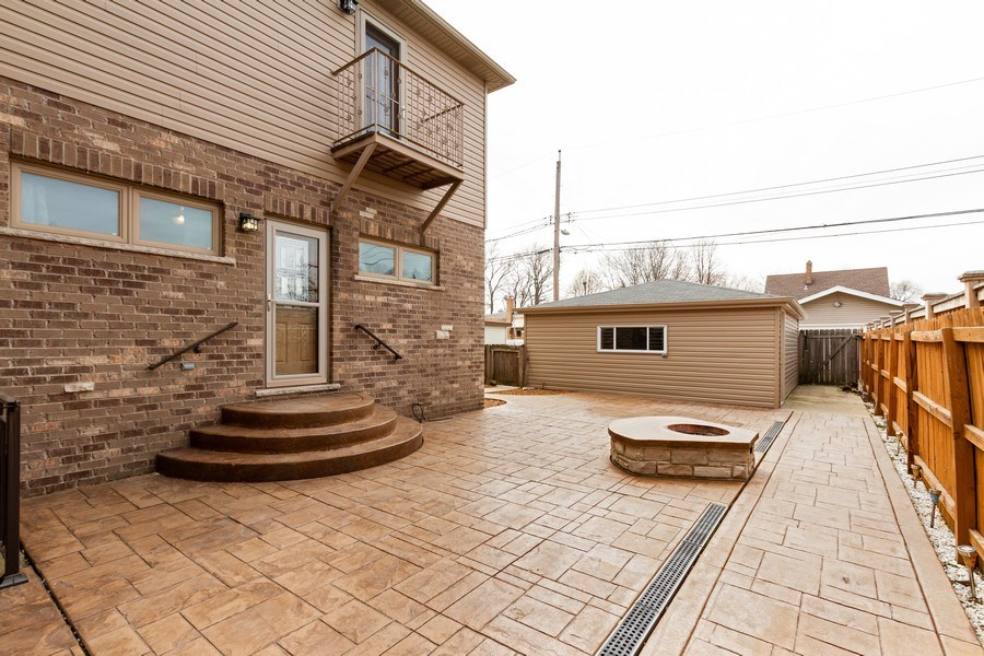 Real Estate Photography - 10612 S. Whipple Street, Chicago, IL, 60655 - Rear View