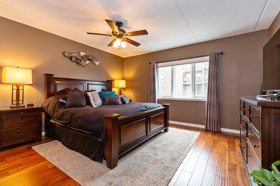 Real Estate Photography - 1330 Perry Street, Unit 406, Des Plaines, IL, 60016 - Master Bedroom