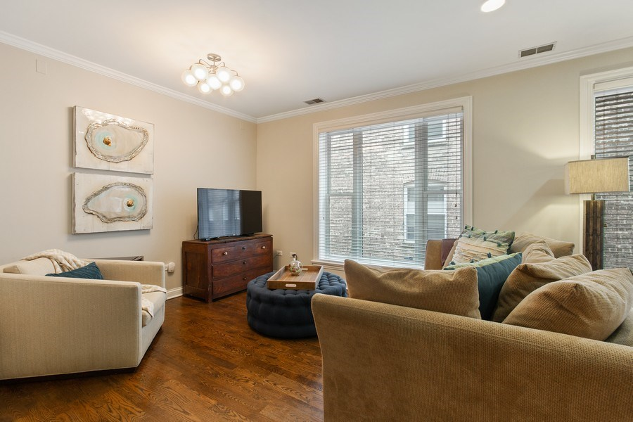 Real Estate Photography - 3250 N. Lincoln Avenue, Unit E, Chicago, IL, 60657 - Living Room