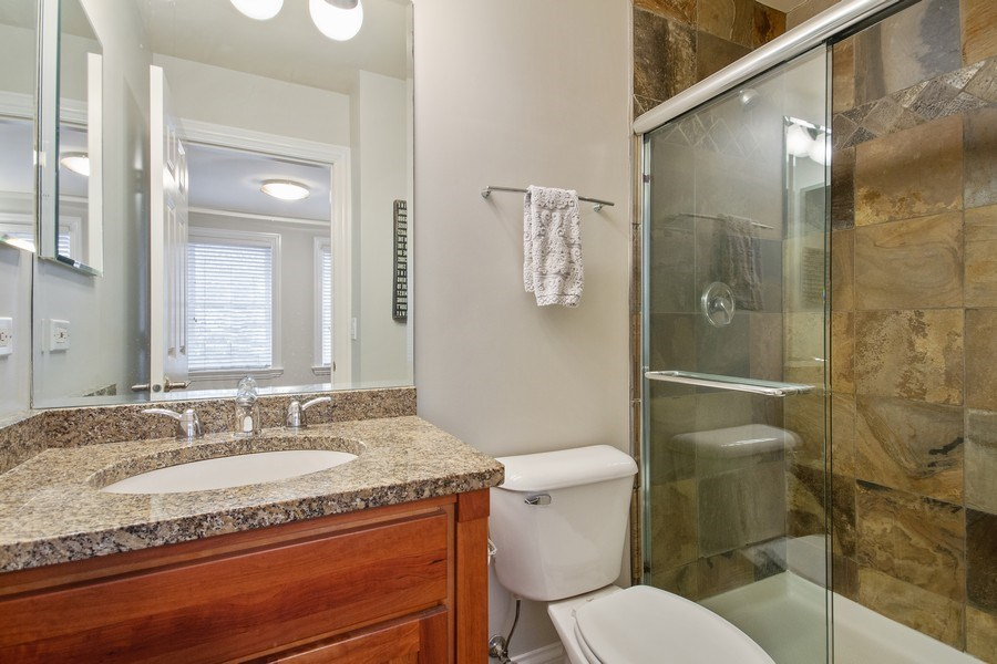 Real Estate Photography - 3250 N. Lincoln Avenue, Unit E, Chicago, IL, 60657 - 2nd Bathroom
