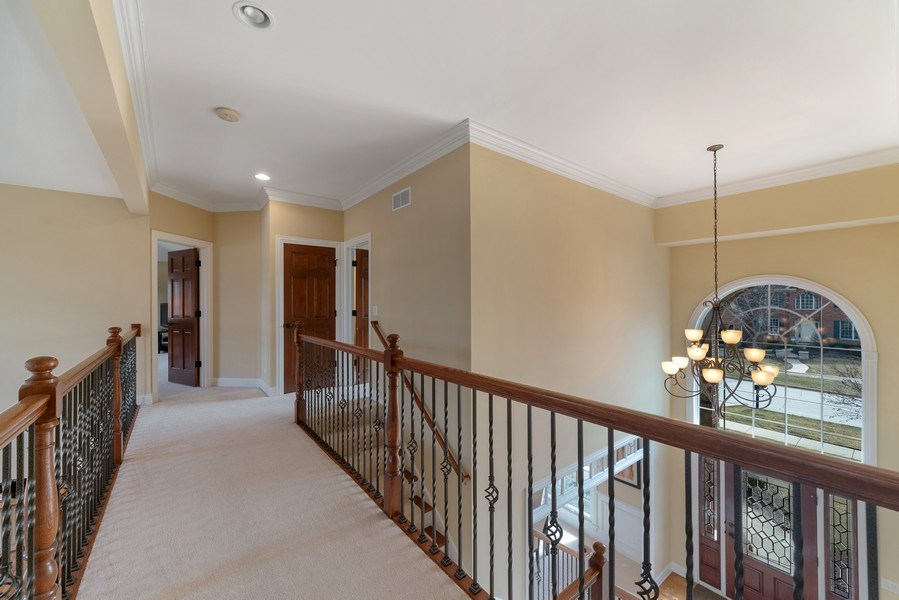 Real Estate Photography - 3012 Glacier Court, St. Charles, IL, 60174 - 2nd Floor Corridor
