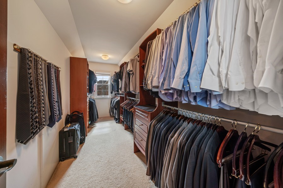 Real Estate Photography - 3012 Glacier Court, St. Charles, IL, 60174 - Master Bedroom Closet