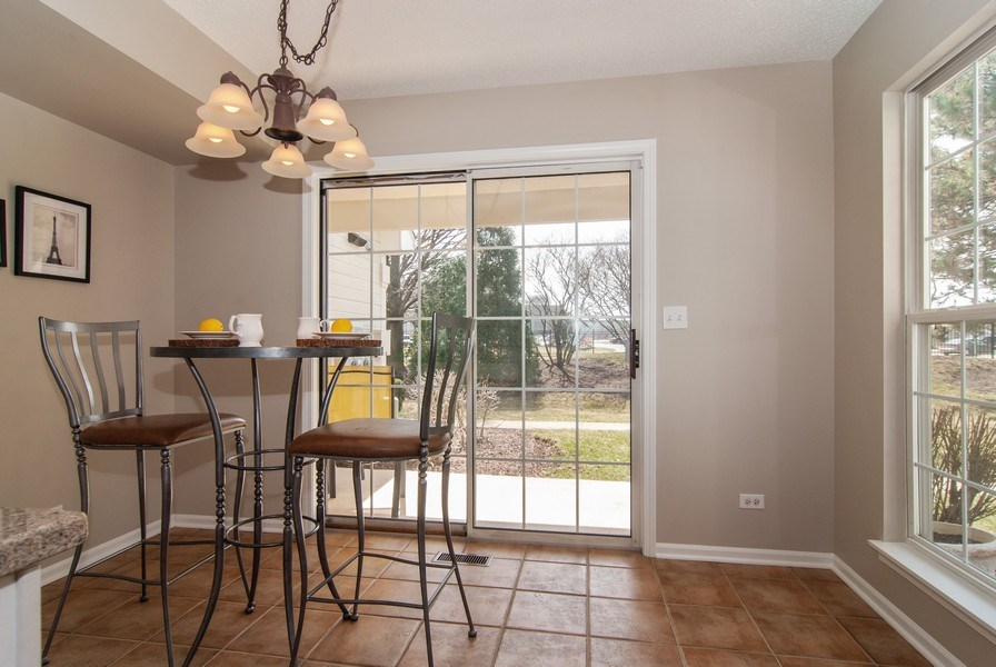 Real Estate Photography - 1366 Georgetown Drive, Batavia, IL, 60510 - Breakfast Nook