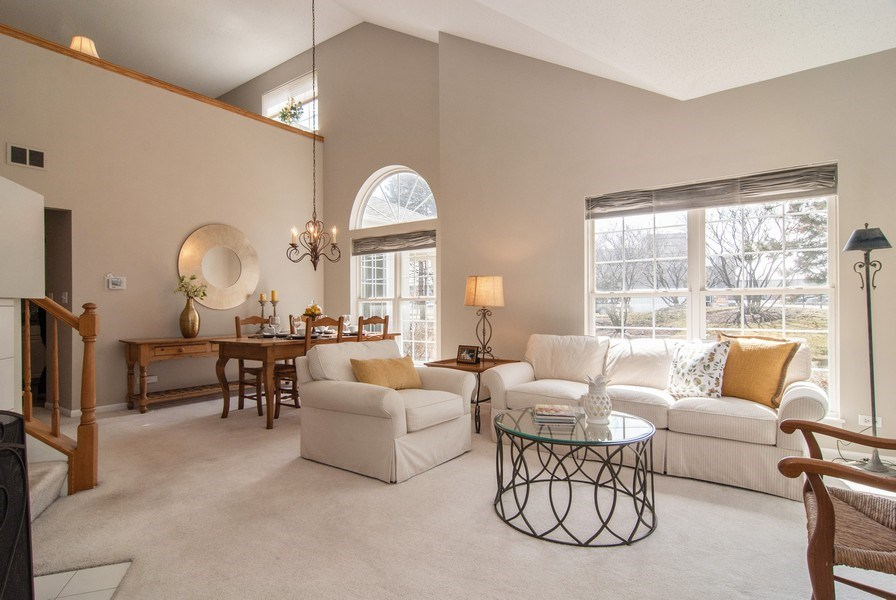 Real Estate Photography - 1366 Georgetown Drive, Batavia, IL, 60510 - Living Room/Dining Room