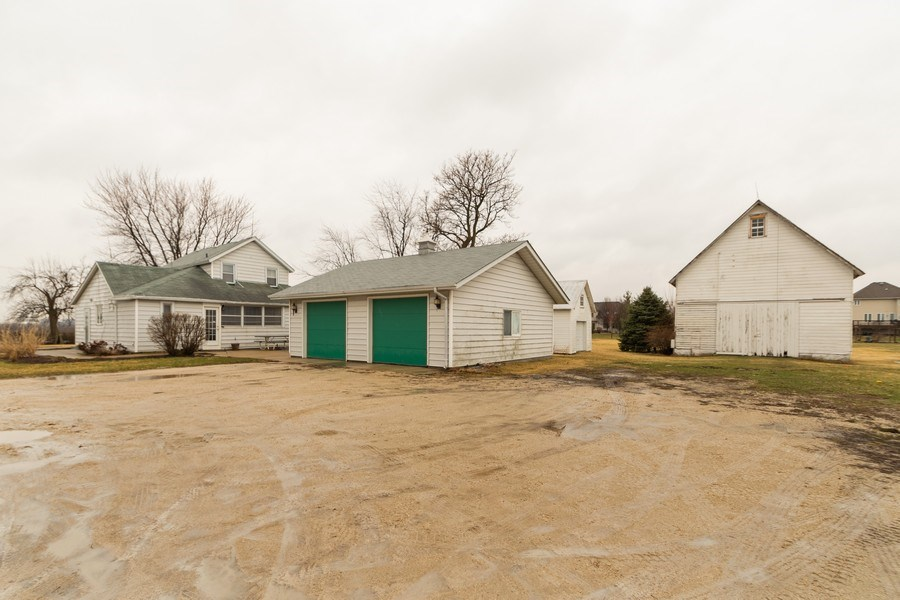 Real Estate Photography - 25608 Black Road, Shorewood, IL, 60404 - Rear View