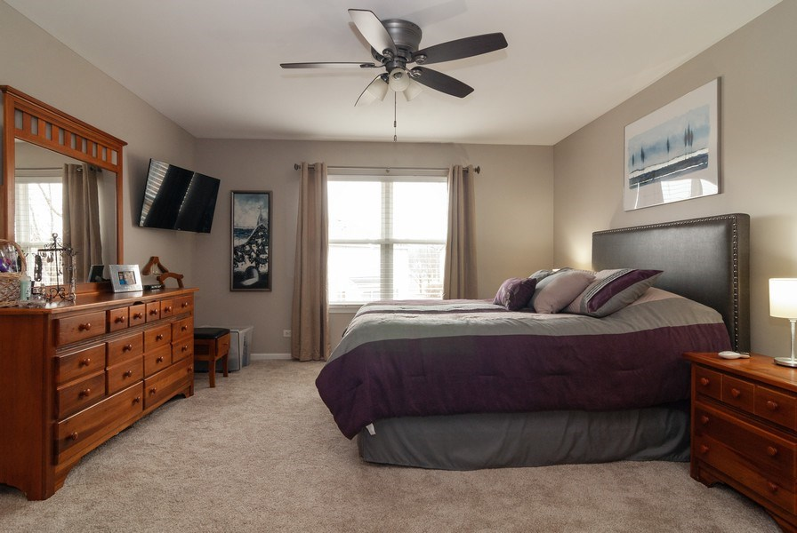 Real Estate Photography - 2472 Bayhill Court, Aurora, IL, 60503 - Master Bedroom