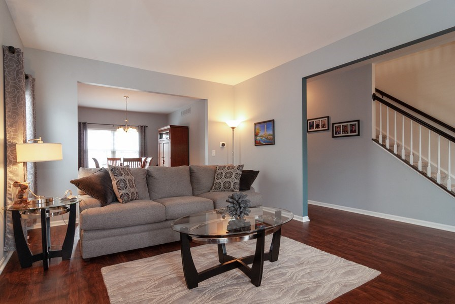 Real Estate Photography - 2472 Bayhill Court, Aurora, IL, 60503 - Living Room
