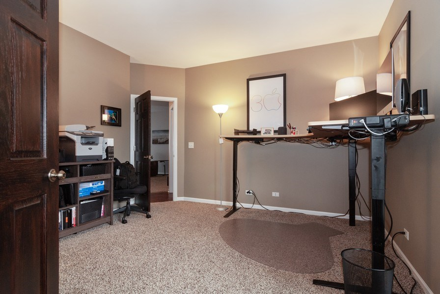 Real Estate Photography - 2472 Bayhill Court, Aurora, IL, 60503 - Den/Office