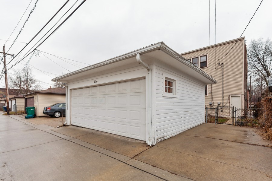 Real Estate Photography - 1134 S. Oak Park Avenue, Oak Park, IL, 60304 - Garage with additional parking space - 1 of 2