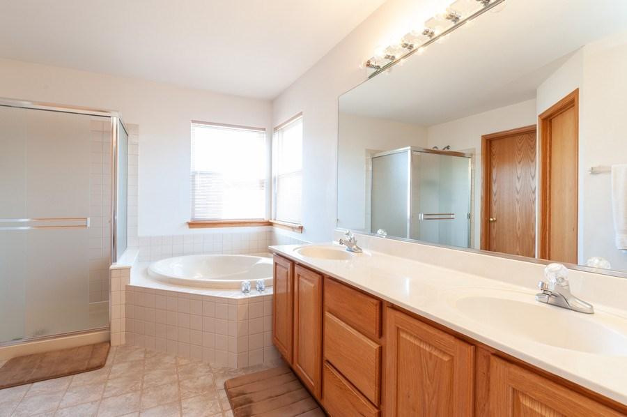 Real Estate Photography - 1910 Marigold Lane, Round Lake, IL, 60073 - Master Bathroom
