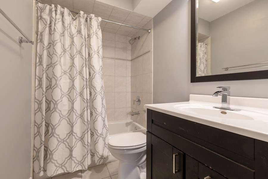 Real Estate Photography - 1555 Camelot Lane, Hoffman Estates, IL, 60010 - 2nd Bathroom
