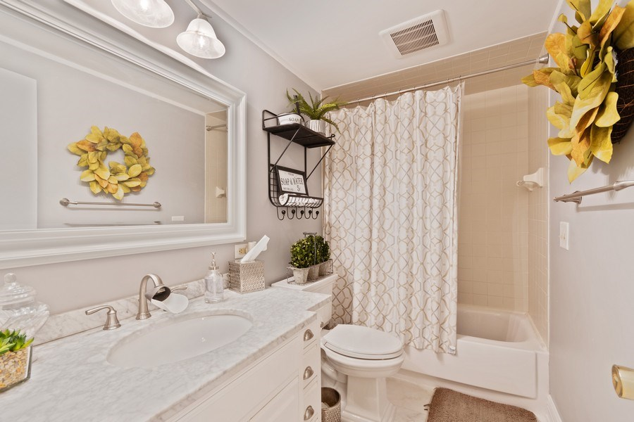 Real Estate Photography - 920 Royal St. George Drive, Naperville, IL, 60563 - 2nd Bathroom